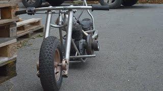homemade mini bike chopper bobber part 5 sissy bar building