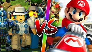 MARIO KART VS ROBLOX ? ROBLOX IN ENGLISH WITH LULY