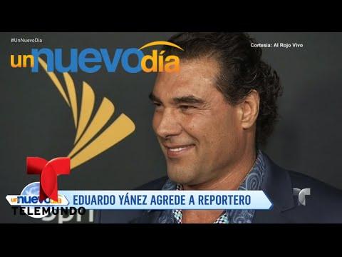 Eduardo Yáñez pierde la cabeza y golpea a un periodista | Un Nuevo Día | Telemundo