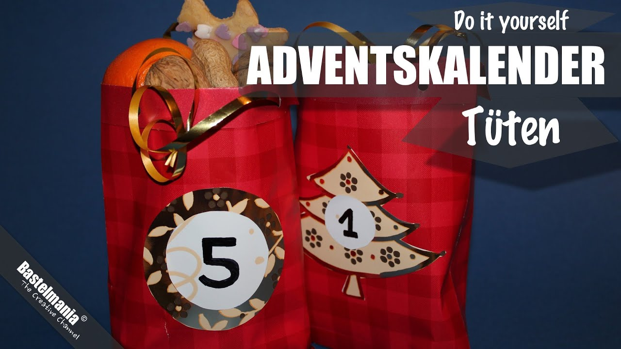 adventskalender t ten basteln advent bags crafts youtube. Black Bedroom Furniture Sets. Home Design Ideas