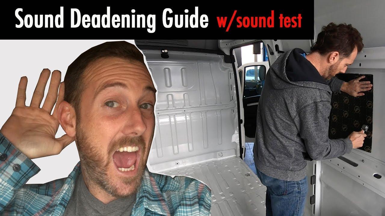 Vanlife:  Installing Sound Deadening (with sound test)