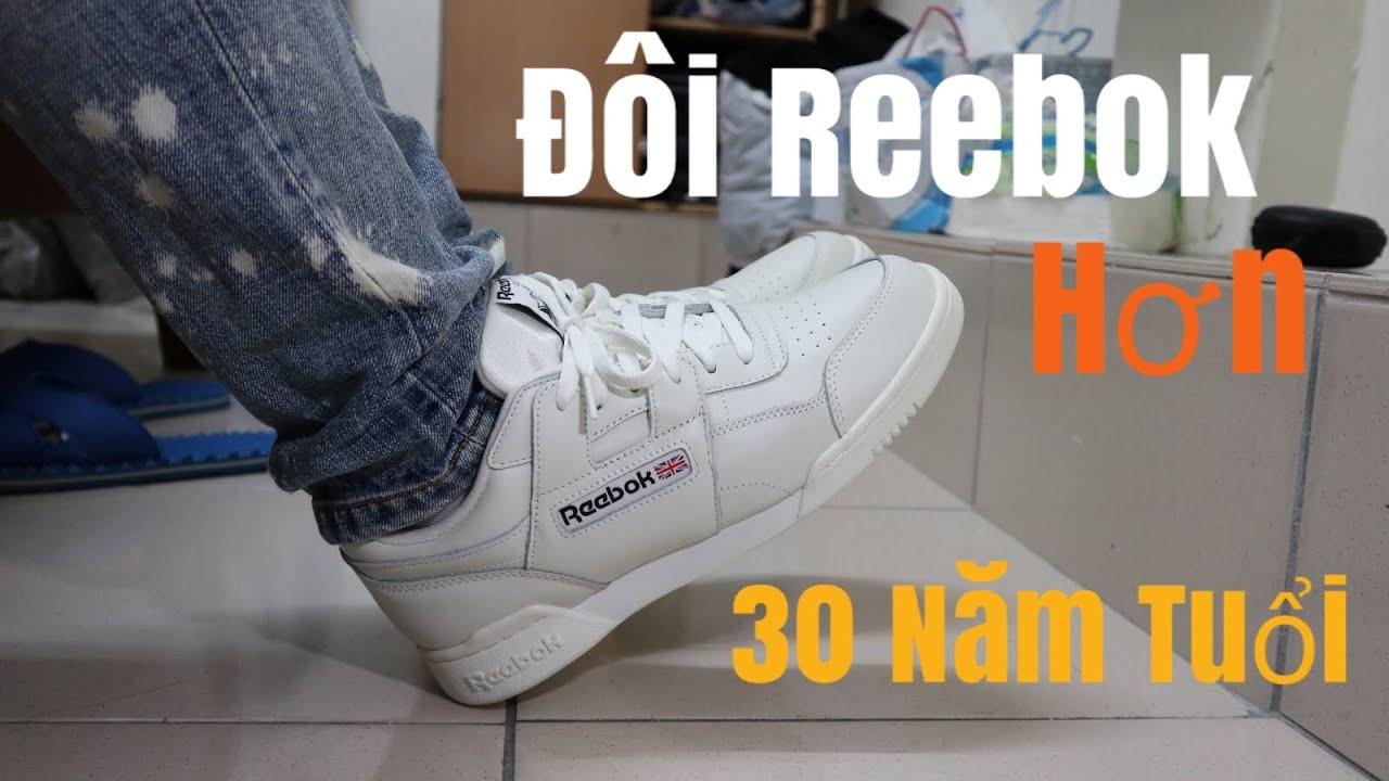 Reebok Đôi Giầy Hơn 30 năm tuổi. Reebok Work out plus CLASSIC REVIEW.