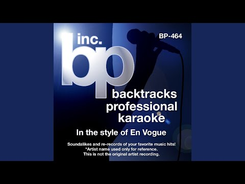 Hold On (Karaoke Instrumental Track) (In the Style of En Vogue)