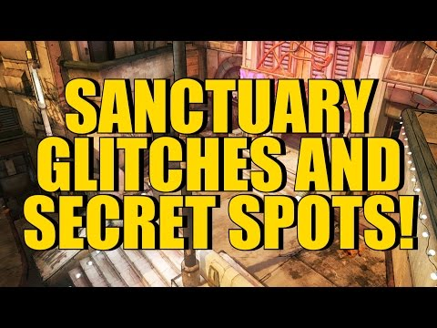 Borderlands 2: Sanctuary Glitches and Secret Spots! (Under Map, Hidden Chest, Secret Rooms!)