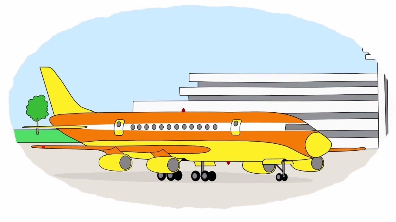 мультик раскраска учим цвета воздушный транспорт самолеты истребитель дирижабль планер