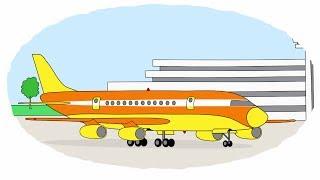 Мультик - Раскраска. Учим Цвета - Воздушный транспорт: самолеты, истребитель, дирижабль, планер