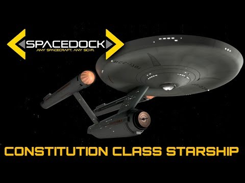 Star Trek: Constitution Class Starship (USS Enterprise) - Spacedock