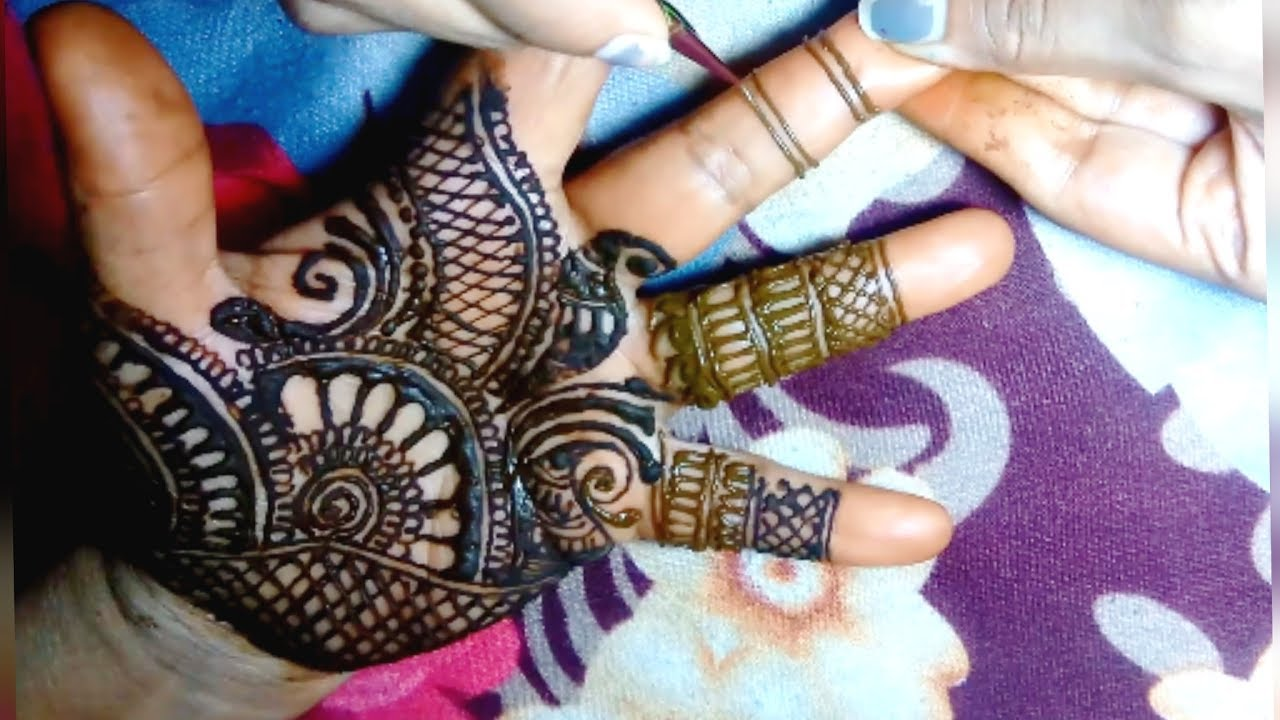 Easy Simple Mehndi Design For Left Hand Palm Only Bhari Hui