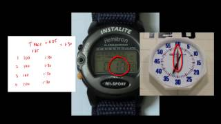 How To Use A Pace Clock And Stop Watch For Swim Intervals