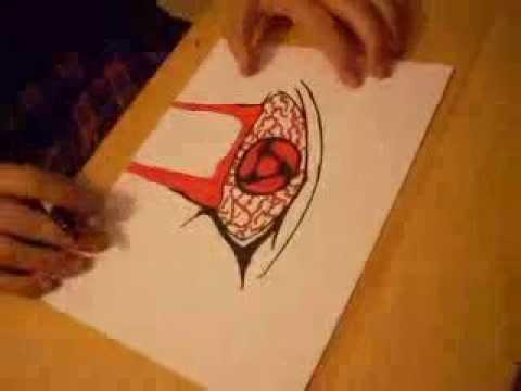 drawing itachi s mangekyou
