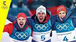 Podium glänzt Schwarz, Rot, Gold | Day 11 | Olympische Winterspiele 2018 | Eurosport