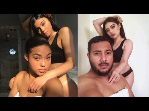 Imitando Fotos de Kylie Jenner y Jordyn Woods con mi ESPOSO! 👯♀️