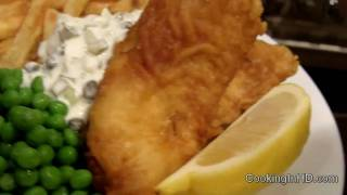 Crispy Beer Battered Fish and Chips & Tartar Sauce