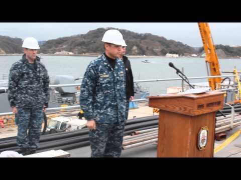 USS ANTIETAM VIPERS reciting the Sailors