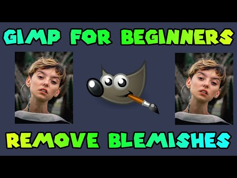TOUCH UP PHOTOS AND FIX SKIN BLEMISHES - GIMP FOR BEGINNERS