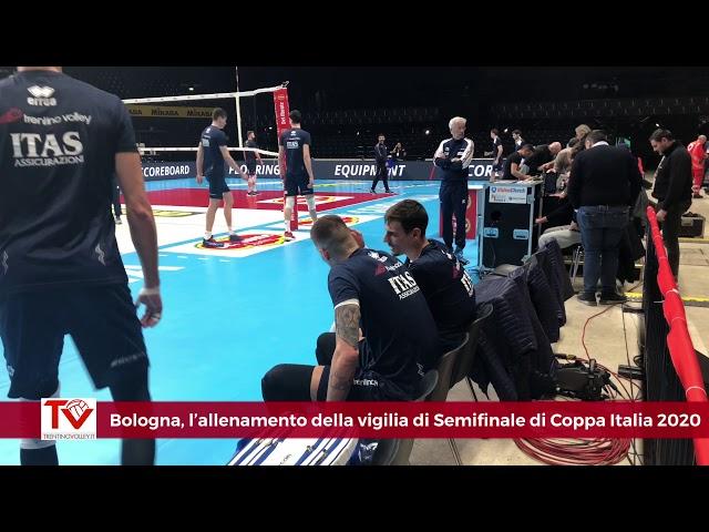 Bologna, allenamento alla vigilia della semifinale di Del Monte Coppa Italia 2020 (real audio)