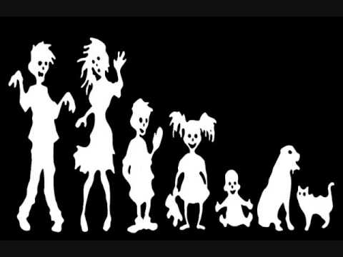Cool zombie family car decal sticker show