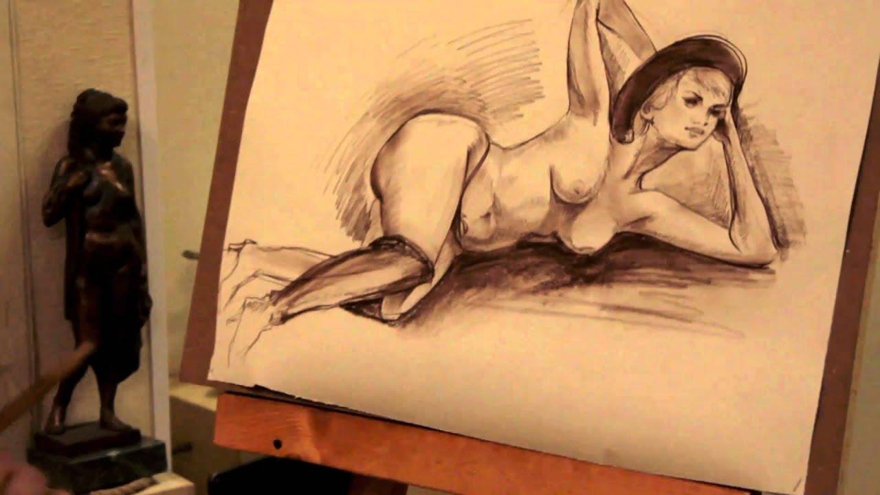 она рисуют голого мужчину с натуры видео что