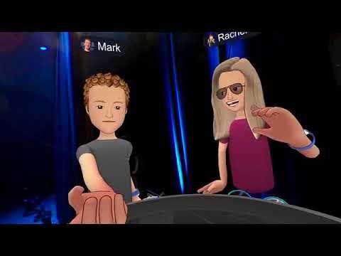 Mark Zuckerberg & Rachel - Live from virtual reality -- teleporting to Puerto Rico