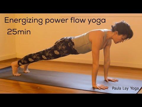 Energizing power flow yoga 25min