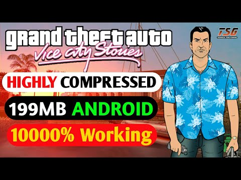 199MB How To Download GTA VICE CITY LITE Highly Compressed Game For Android - Hindi