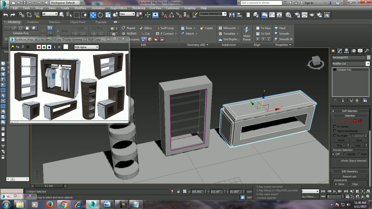 Tutorial on modeling an interior furniture in 3dsmax. youtube