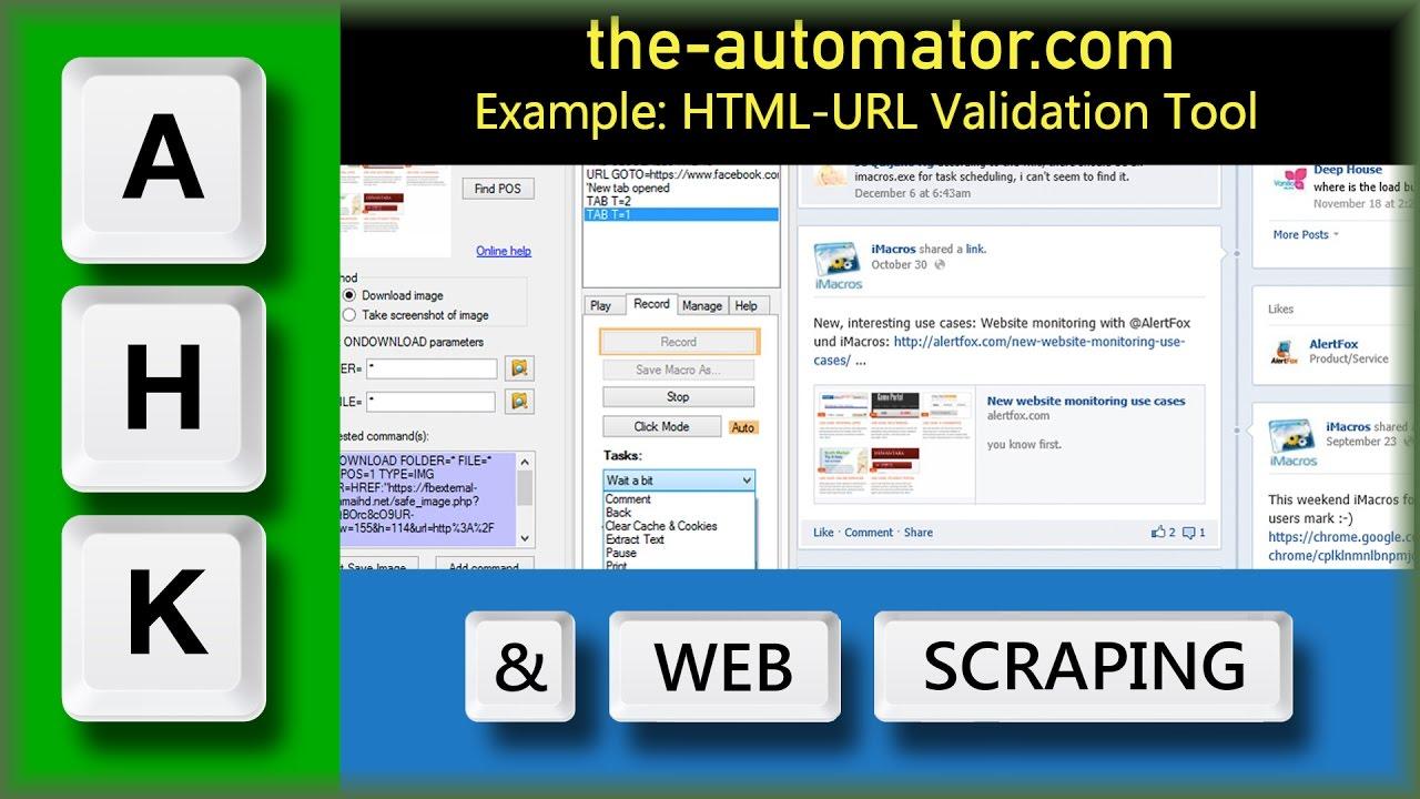 HTML Testing & URL Verification tool with AutoHotKey and