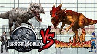 Jurassic Park, Jurassic World Vs Dinomaster [ Size Comparison ]