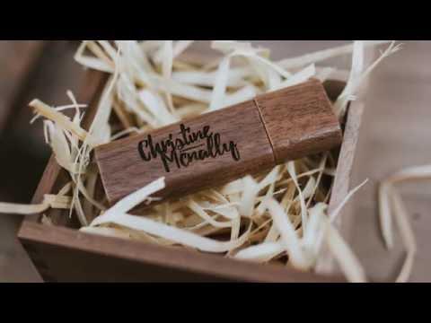 Wooden branded USB & Wee Album Company Fine Art Album