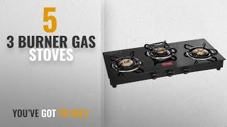 Top 10 3 Burner Gas Stoves [2018]: Prestige Marvel Glass 3 Burner Gas Stove (Black)
