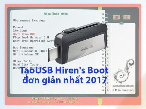 [PC] Hướng dẫn tạo USB Hiren's boot đơn giản nhất 2018