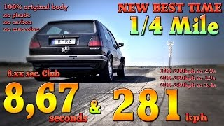 VW Golf Mk2 AWD 1233HP street car 8.67s @ 281kph Boba-Motoring 2017