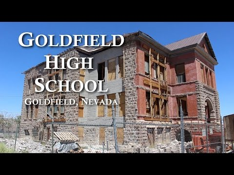 Exploring Abandoned High School in Ghost Town of Goldfield, Nevada
