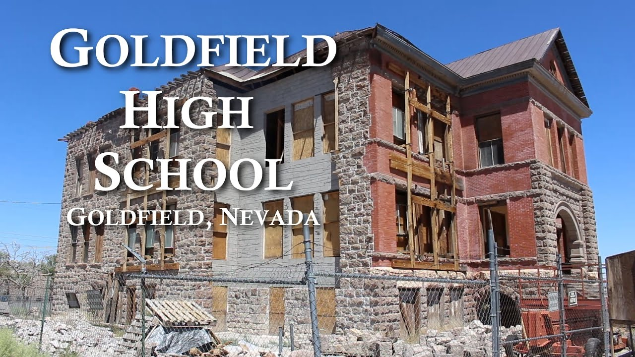 Exploring Abandoned High School In Ghost Town Of Goldfield