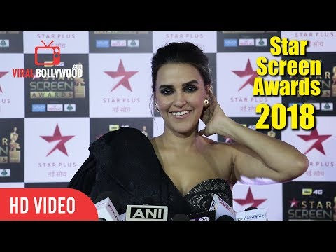 Neha Dhupia At Star Screen Awards 2018 | Star Plus Awards Show 2018 thumbnail