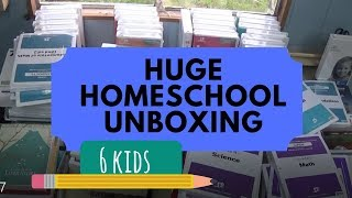 Homeschool Unboxing BJU Press Distance Learning DVD for 6 kids