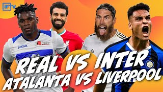 REAL MADRID 3 2 INTER MILAN HIGHLIGHTS ATALANTA 0 5 LIVERPOOL UCL GOAL REACTIONNS
