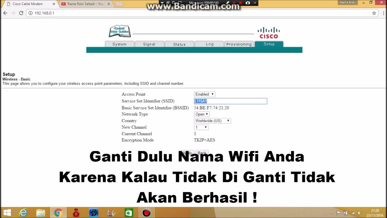 Cara Mengganti Password WiFi First Media ! - YouTube