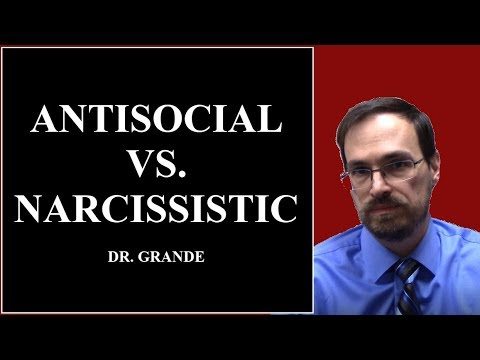 What is the difference between Antisocial Personality Disorder & Narcissistic Personality Disorder?