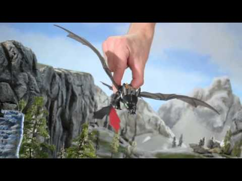How To Train Your Dragon 2 Bewilderbeast Final Battle Set Toothless Power Dragon Toy Commercial Youtube