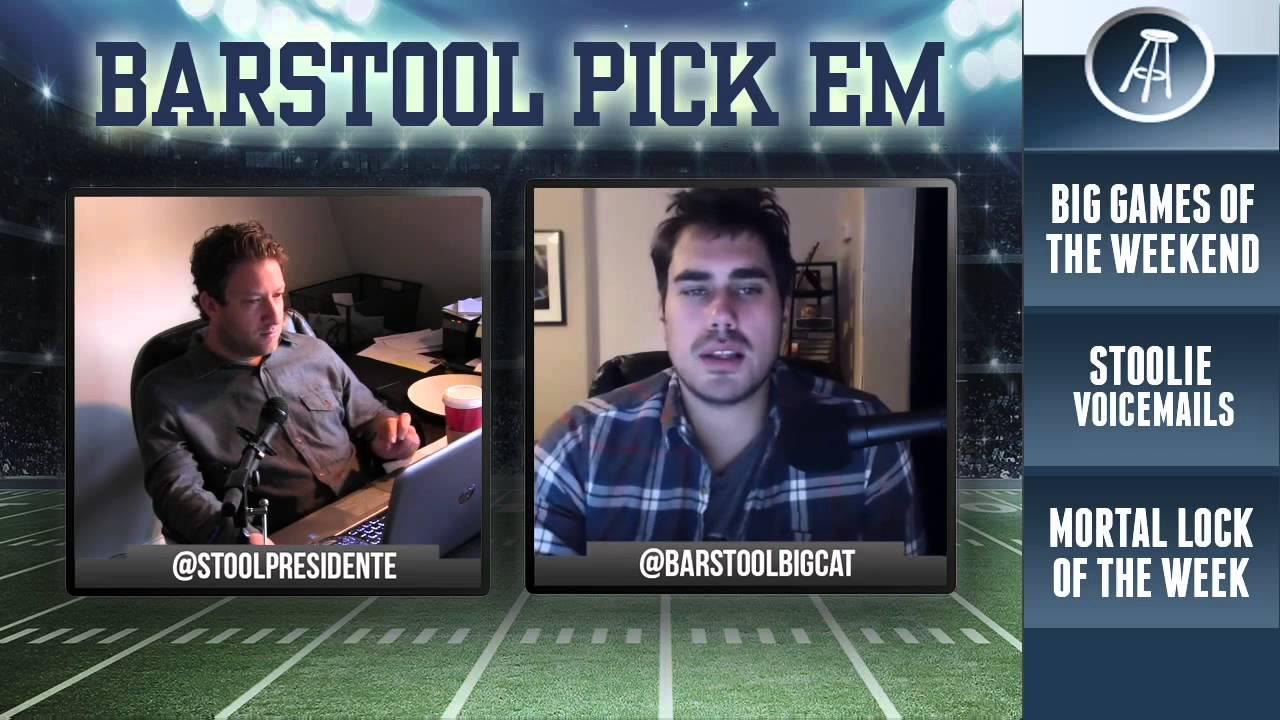 Barstool Pick Em - NFL week 14