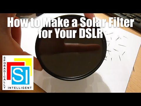 Prepare for the 21 August 2017 Solar Eclipse | How to Build a Solar Filter for DSLR