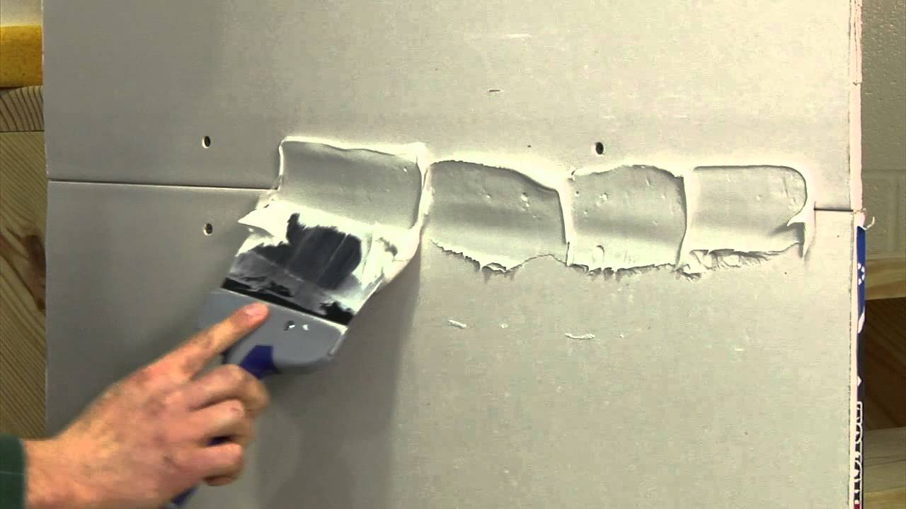 Finishing A Drywall Joint Step 1 Youtube