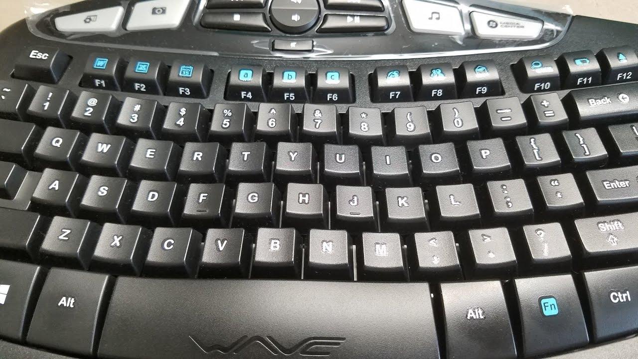 203533340dc Logitech MK570 Comfort Wave Typing Sound - YouTube