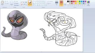 How to Draw Pokemon Like a Pro With Paint  024 Arbok