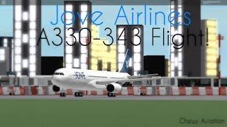 Jove Airlines FLIGHT! A330-343! I Roblox