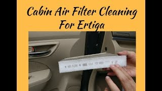 Cabin air filter cleaning of your car - Ertiga