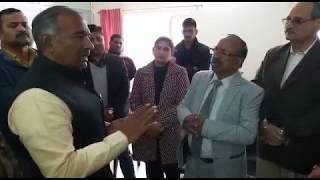 Uttarakhand Education Minister Arvind Pandey in action