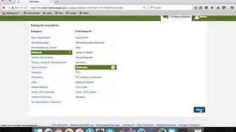 Gewerblich als Selbständiger auf ebaykleinanzeigen verkaufen/registrieren