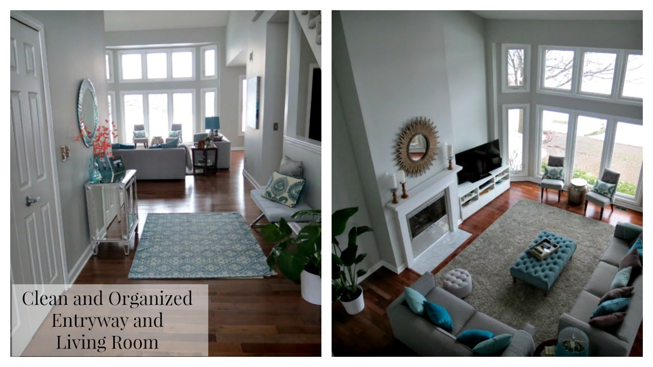 Living Room and Entryway Clean and Organized Home Challenge Week